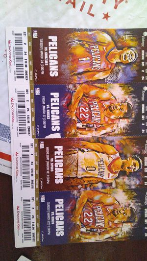 Pels season tickets March and April for Sale in New Orleans, LA