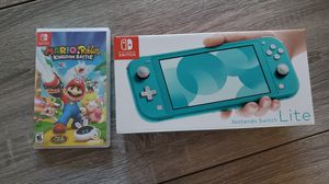 Nintendo Switch Lite Turquoise with game for Sale in Lutz, FL