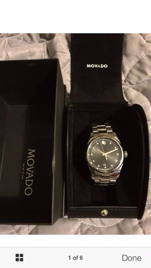 Movado men's/ women's watch with diamond accents for Sale in Caledonia, MI