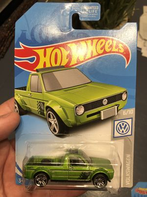 Hotwheels VW Volkswagen Rabbit Caddy truck Green die cast toy car!! for Sale for sale  Plainfield, IL
