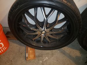 "20"" big bang rims and tires. Great condition. for Sale in HUNTINGTN BCH, CA"