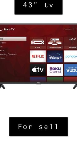 43 Roku Smart Tv W/ Remote for Sale in Greenville,  SC