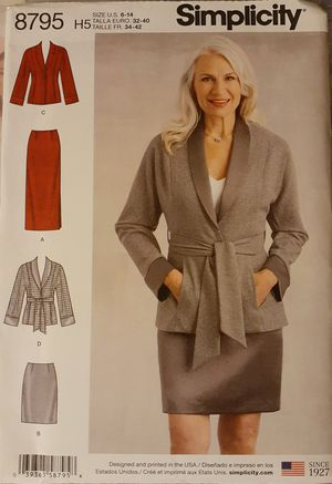 Simplicity 8795 Jacket & Skirt Sewing Pattern for Sale in Pico Rivera, CA
