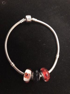 Pandora Bracelet & 3 Murano Glass Charms for Sale in San Francisco, CA