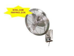 Bentley II 18 in. Indoor/Outdoor Brushed Nickel Oscillating Wall Fan NEW for Sale in Fort Lauderdale, FL