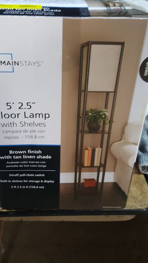 Mainstays 5 feet 2.5 inch floor lamp for Sale in Madison Heights, MI