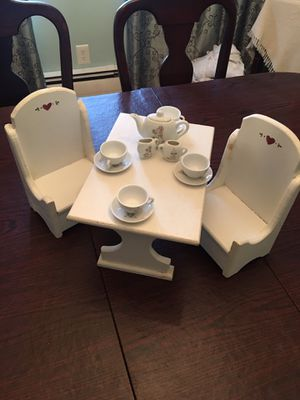 Small doll furniture and tea set for Sale in Coventry, RI