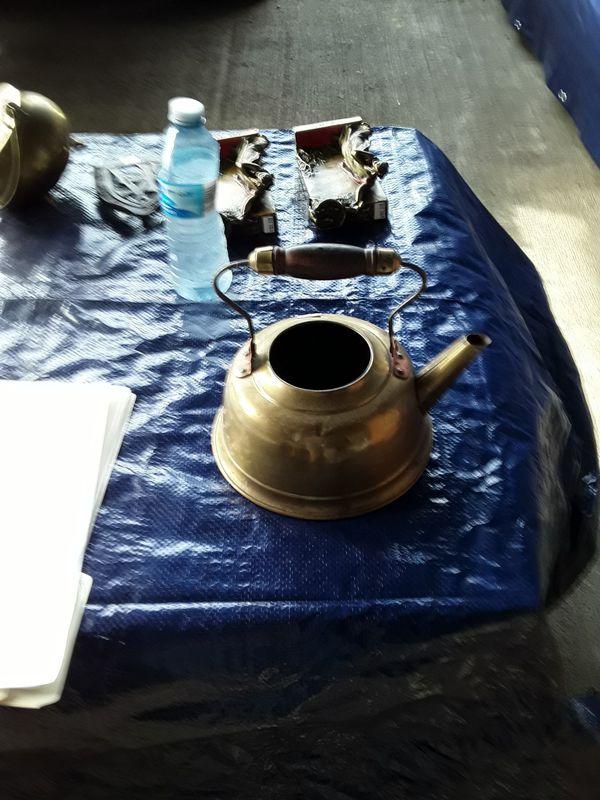Copper coffee pot