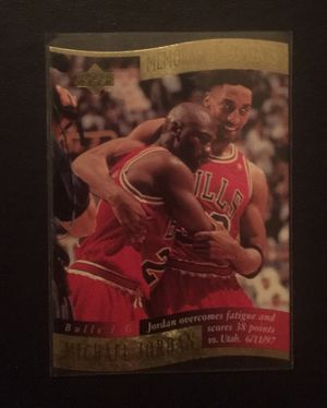 Michael Jordan's Infamous Flu Game Sports Memorabilia Collectible Trading Card for Sale in Fox Lake, IL