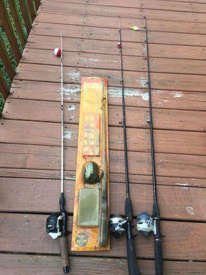 4 fishing rod/reel combos for Sale in Hendersonville, TN