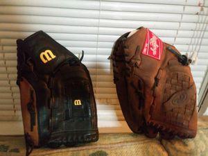 Baseball Gloves, Wison& Rawlings for Sale in Wichita, KS