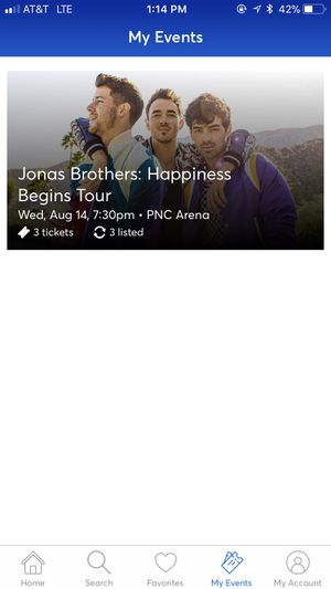 Jonas Brothers Concert for Sale in Raleigh, NC