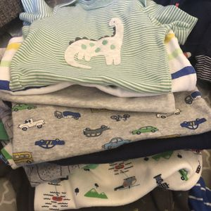 Bundle Of Baby Boy Clothes 🧸 Size : 6-9-12-24 🌸63 Pieces In Total In Excellent Condition for Sale in Loma Linda, CA