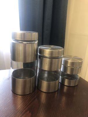 Storage containers - stainless steel and glass for Sale in Burbank, CA