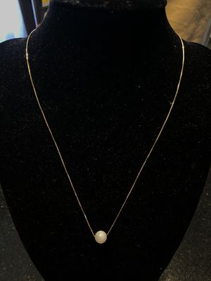 10k gold genuine pearl chain. 16 inches for Sale in Weymouth, MA