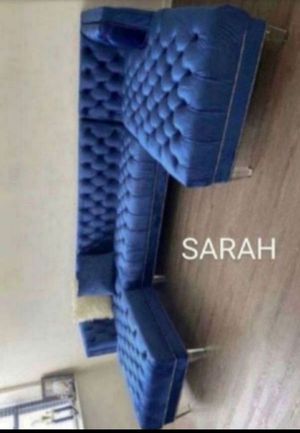 Brand New 🧿🧿🧿sectional couch oversized blue🧿 No credit check 🧿 39 down 🧿 for Sale in Houston, TX