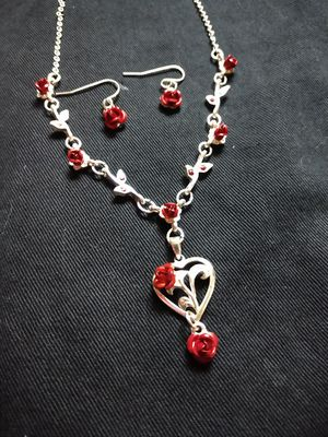 Rose necklace and earrings for Sale in Newton, KS