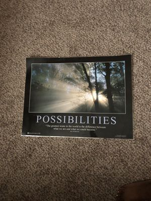 Possibilities poster for Sale in Quincy, IL