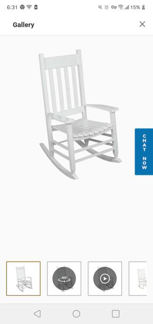 White rocking chair for Sale in Salt Lake City, UT