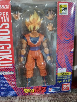 Dragonball Z Kai S.H.Figuarts SDCC 2011 5 Inch Deluxe Articulated Action Figure Super Saiyan Son Goku for Sale in Phoenix, AZ