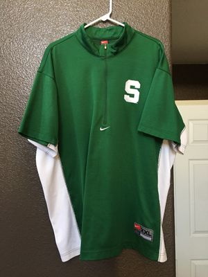 MSU Nike Basketball Warm Up Top Michigan State University for Sale in Las Vegas, NV