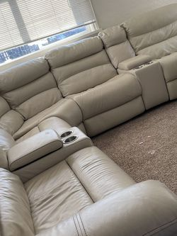 Leather Sectional With Recliners for Sale in Denver,  CO