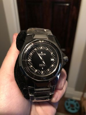 Croton tungsten carbon fiber and diamond watch for Sale in Peoria, IL