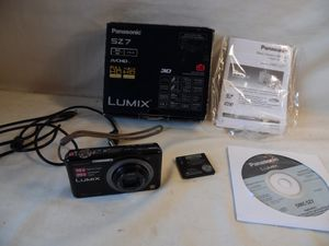 Panasonic Lumix SZ7 Digital Camera 14.1 MP With Battery 10X For Parts Or Repair for Sale in Upper Darby, PA