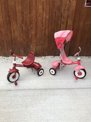 2 Kids radio flyer tricycles both for $40 for Sale in Chicago, IL