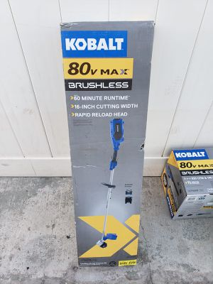 KOBALT 80V MAX BRUSHLESS CORDLESS TRIMMER KIT /GUIRA CON BATERIA Y CARGADOR....FIRME.. for Sale in Los Angeles, CA