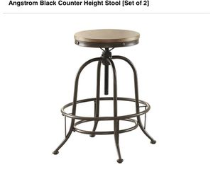 Angstrom Black Counter Height Stool - Set of 2 for Sale in Clovis, CA