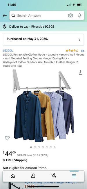 Wall mount laundry hangers retractable rack for Sale in Riverside, CA