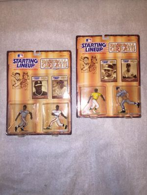 MLB New Action Figures Lot 2 Starting Lineup Toys Baseball Greats Rare Collectibles for Sale in Escondido, CA