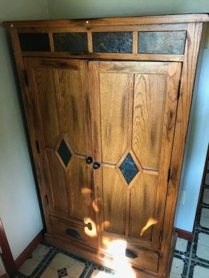 Table 4 chairs & matching storage cabinet for Sale in Rensselaer, NY