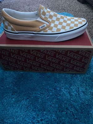 Yellow checkerboard slip on Vans for Sale in Stonecrest, GA