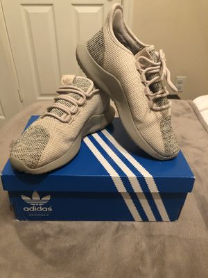 Adidas tubular cream brown sneakers size 4 youth size 6 women's for Sale in Chula Vista, CA