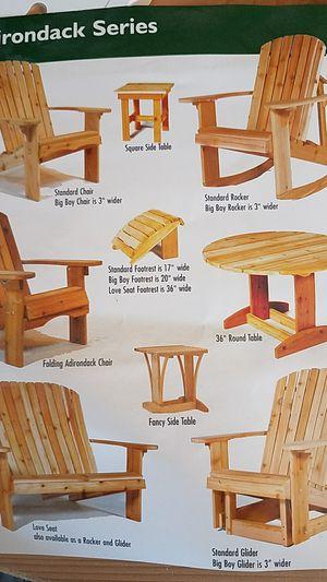 Outdoor cedar furniture for Sale in Auburn, WA