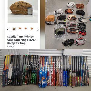Softball bats gloves for sale. for Sale in Roselle, NJ
