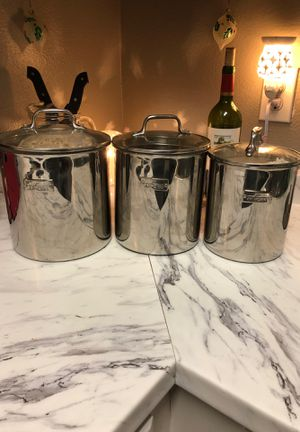 Kitchen storage containers silver for Sale in Cypress, TX