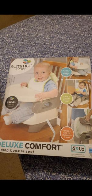 Booster seat high chair NEW IN THE BOX! AGE 6 MONTHS AND UP for Sale in Atwater, CA