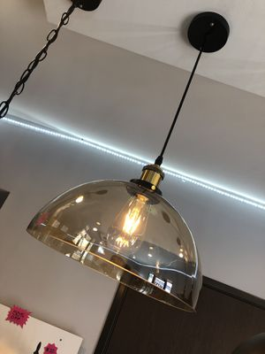Hanging glass light fixture for Sale in San Diego, CA
