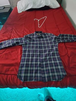 Burberry Alexander navy blue shirt mens size L Almost new condition only use a couple of times for Sale in Hillsboro, OR