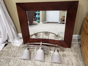 Light fixture and mirror combo set for Sale in San Ramon, CA