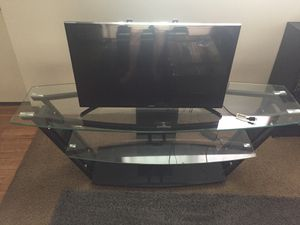Glass TV Stand w/mount capabilities for Sale in Missoula, MT