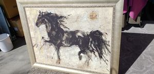 """Picture /Black *Horse //47""""X36"""" 1/2// for Sale in Las Vegas, NV"""