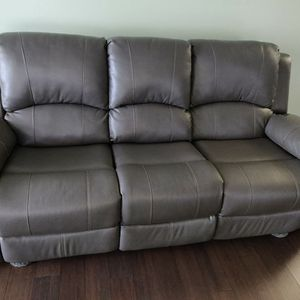 Brown faux-leather Reclining Loveseat/Sofa - Furniture Of America for Sale in Livonia, MI