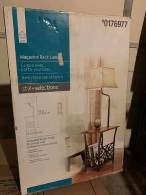 Lamp with magazine rack for Sale in Los Angeles, CA