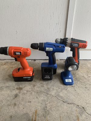Assorted drills (no chargers) for Sale in Montgomery, AL