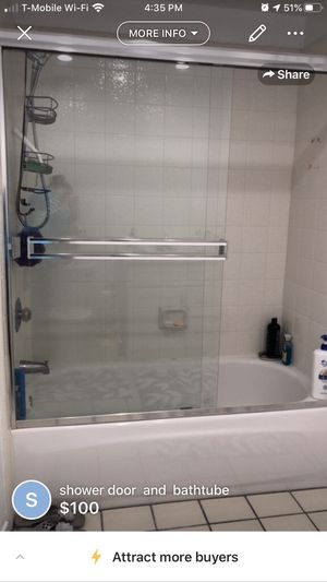 Shower Door and Bathtub for Sale in Simi Valley, CA
