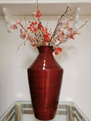 Decorative vase with Artificial faux flowers for Sale in Fremont, CA